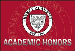 Benet Academy Announces Second Semester Honor Roll